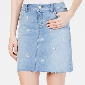 INC Polka-dot Jean Skirt